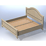 004-Кровать двухспальная (матрас: 2000х1800х250)