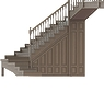 011-Лестница деревянная с фасадами