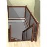 019-Лестница Г-образная со стеклянным заграждением