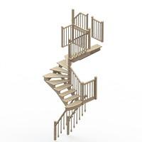 004-Лестница на центральном столбе