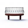 003-Балкон кованый