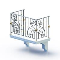 004-Балкон кованый