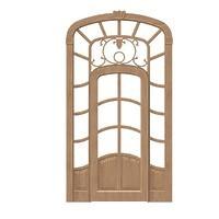 009-Дверной блок арочный