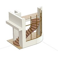 ПОДАРОК №1. Лестница на металокаркасе