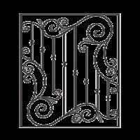 012-Решетка кованая