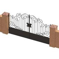 001-Ворота кованые